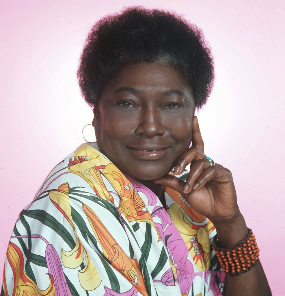 """Esther Rolle poses as Florida Evans to promote the television show """"Good Times"""" in Los Angeles, California, 1978. 