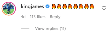 LeBron James' comment on Halle Berry's post | Photo: Instagram/halleberry