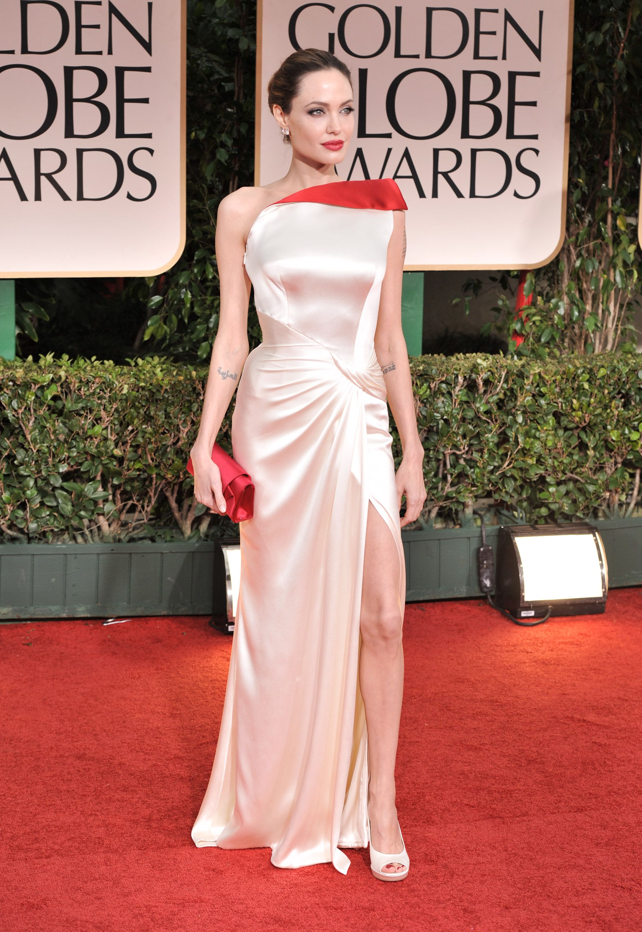 Angelina Jolie at the 69th Annual Golden Globe Awards at The Beverly Hilton Hotel on January 15, 2012, in California | Photo: George Pimentel/WireImage/Getty Images