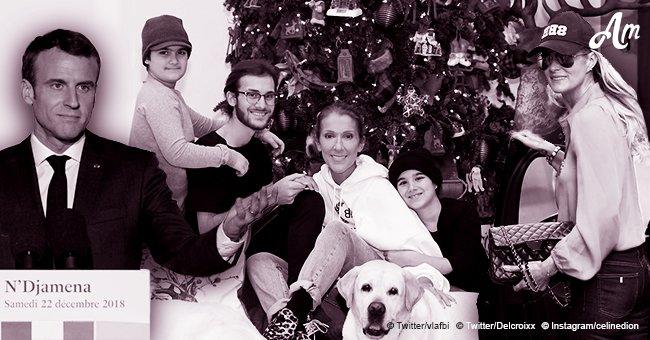 Vœux de Noël de Macron aux Français, Céline Dion avec ses fils pour les fêtes, Laeticia Hallyday partage une vidéo sur Instagram: Top de la journée