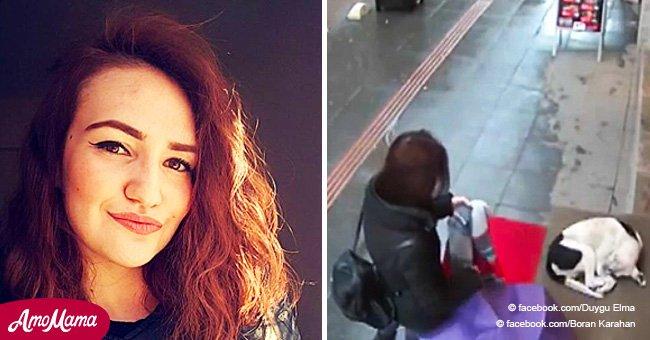 Une femme fait preuve d'un soin incroyable envers un chien errant sans savoir qu'elle a été filmée