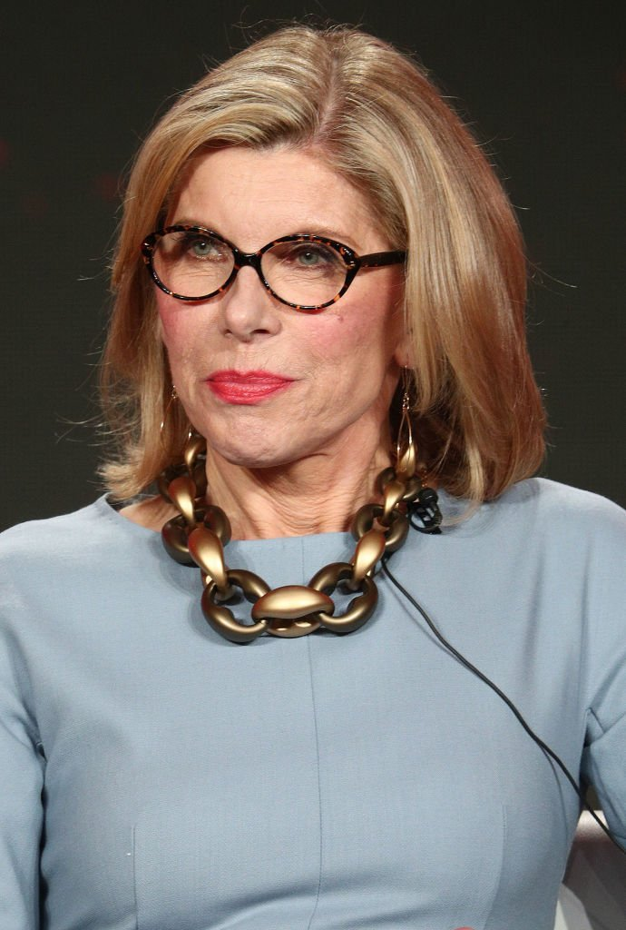 """Christine Baranski of the television show """"The Good Fight"""" speaks during the CBS segment of the 2019 Winter Television Critics Association Press Tour 