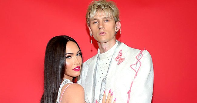 Megan Fox and Machine Gun Kelly at the 2021 iHeartRadio Music Awards at The Dolby Theatre in Los Angeles, California   Photo: Phillip Faraone/Getty Images for iHeartMedia