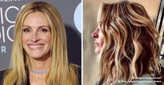 Julia Roberts tiene hermoso nuevo corte de pelo y es un gran cambio de sus icónicos rizos