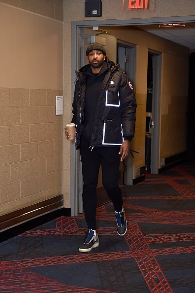 Tristan Thompson arrives to the game against the Orlando Magic at Rocket Mortgage Fieldhouse in Cleveland | Photo: Getty Images