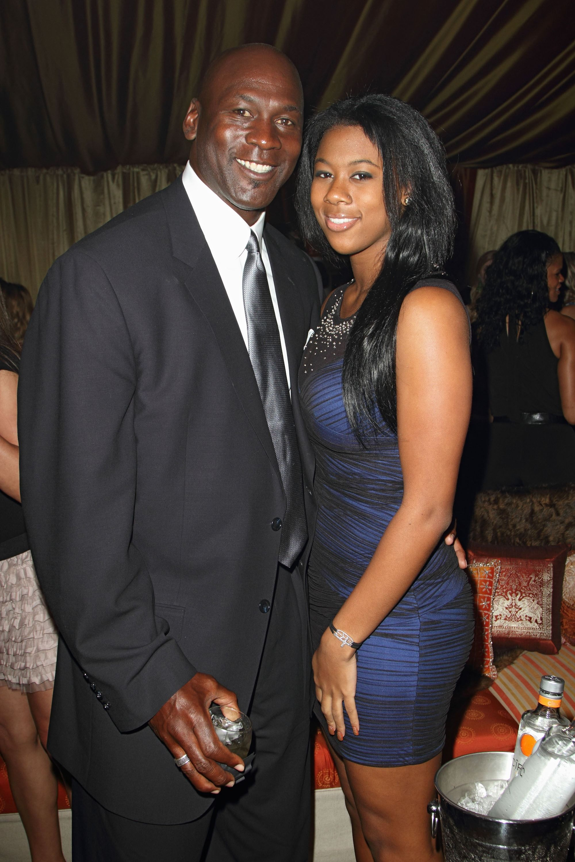 Michael Jordan and daughter Jasmine at Jordan All-Star With Fabolous 23 in 2012 in Florida | Source: Getty Images