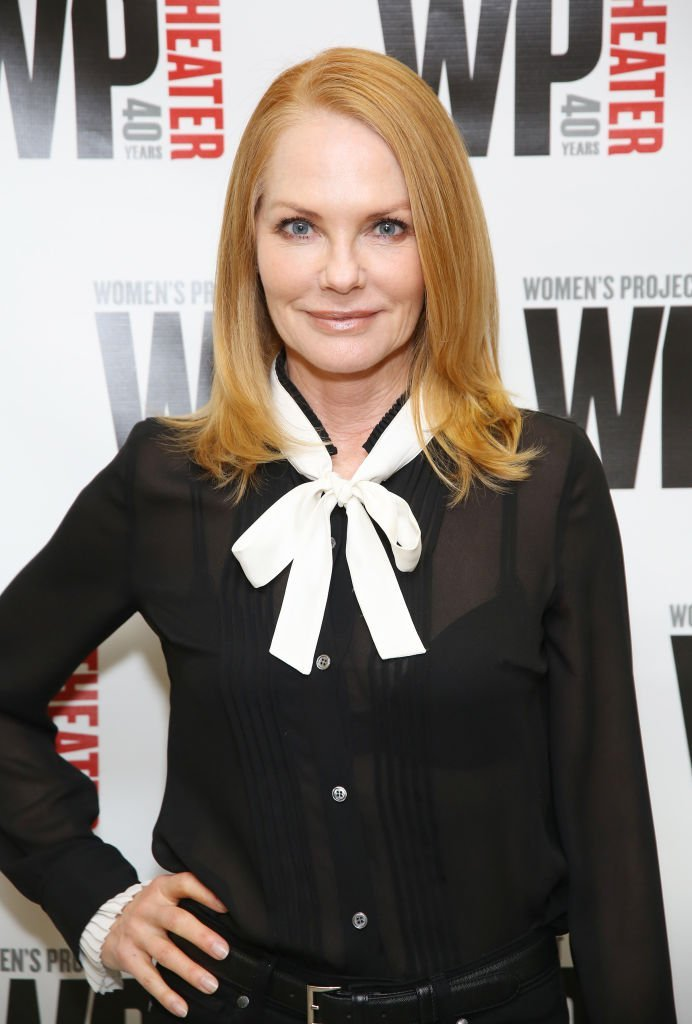 Marg Helgenberger at the WP Theater production of 'What We're Up Against.' | Source: Getty Images