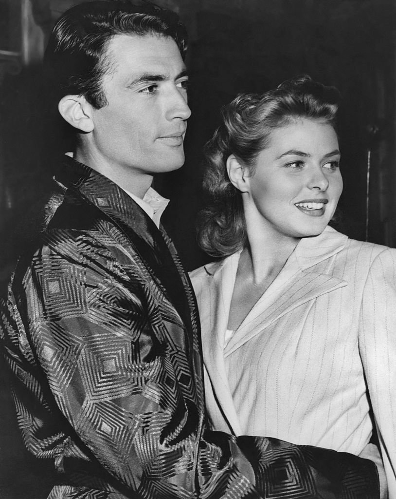 """Gregory Peck and Ingrid Bergman on set of Alfred Hitchcock's """"Spellbound"""" in 1945   Photo: Getty Images"""