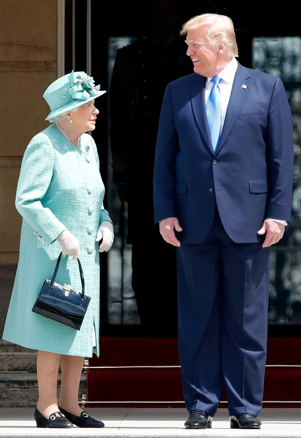 Queen Elizabeth II and US President Donald Trump during his state visit to the UK on June 3, 2019, in London, England. | Source: Getty Images.