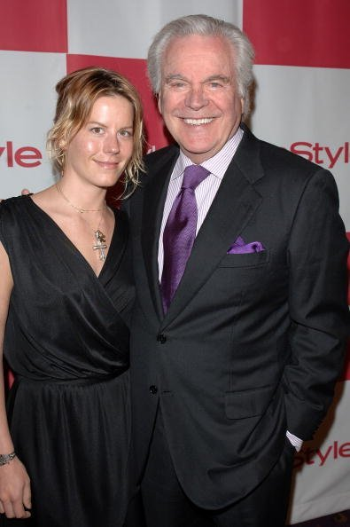 "Robert Wagner (R) and daughter Courtney Wagner attend the In Style party celebrating the publication of Joyce Ostin's book ""A Tribute to Hollywood Dads"" at Spago on May 17, 2007, in Beverly Hills, California. 