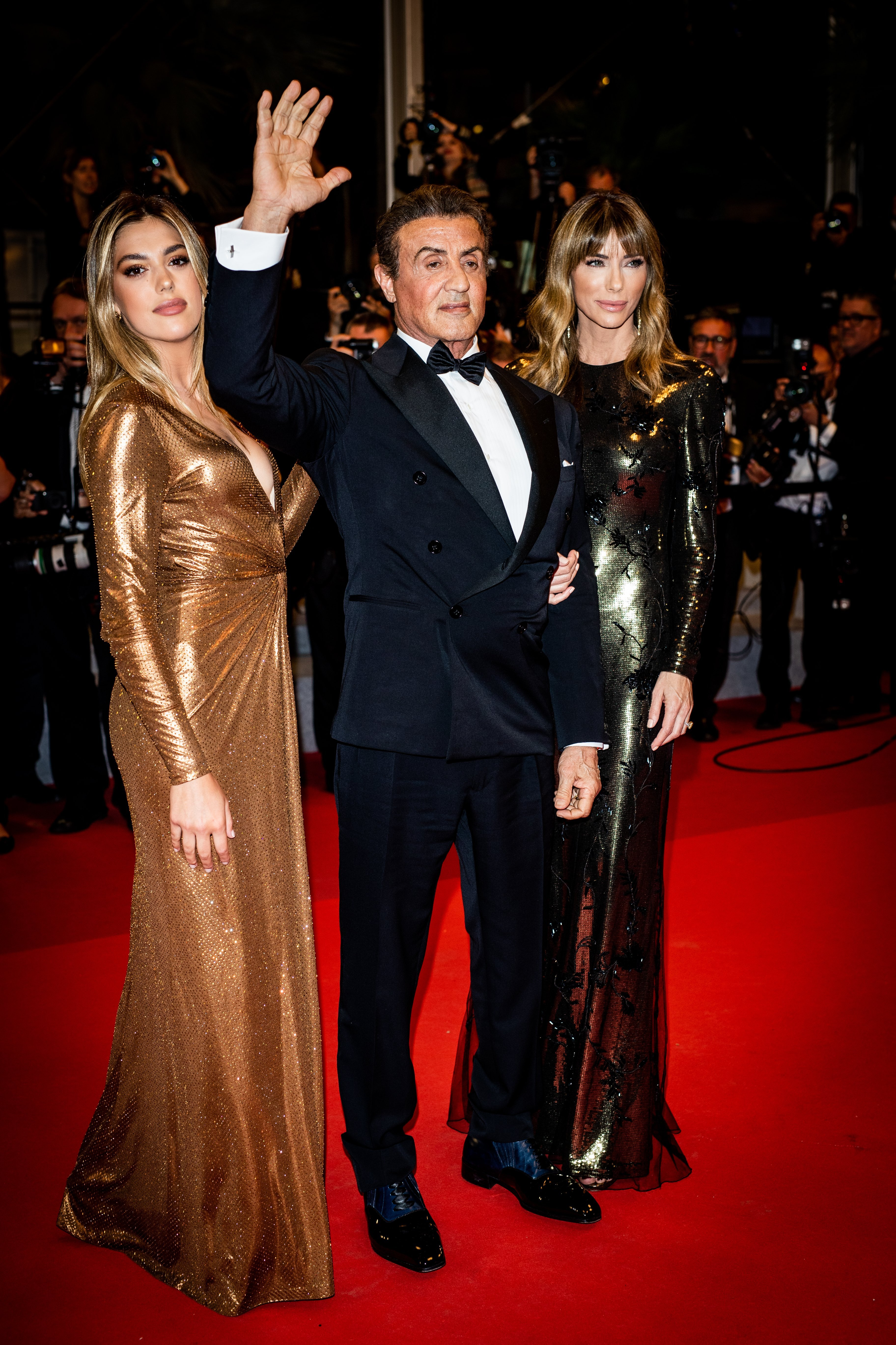 """Sylvester Stallone, Jennifer Flavin and Sistine Rose Stallone attend the screening of """"Rambo - Last Blood"""" during the 72nd annual Cannes Film Festival on May 24, 2019, in Cannes, France.   Source: Getty Images."""
