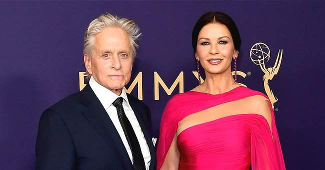 Catherine Zeta-Jones Shares Rare Throwback Photo with Husband Michael Douglas and Their Kids