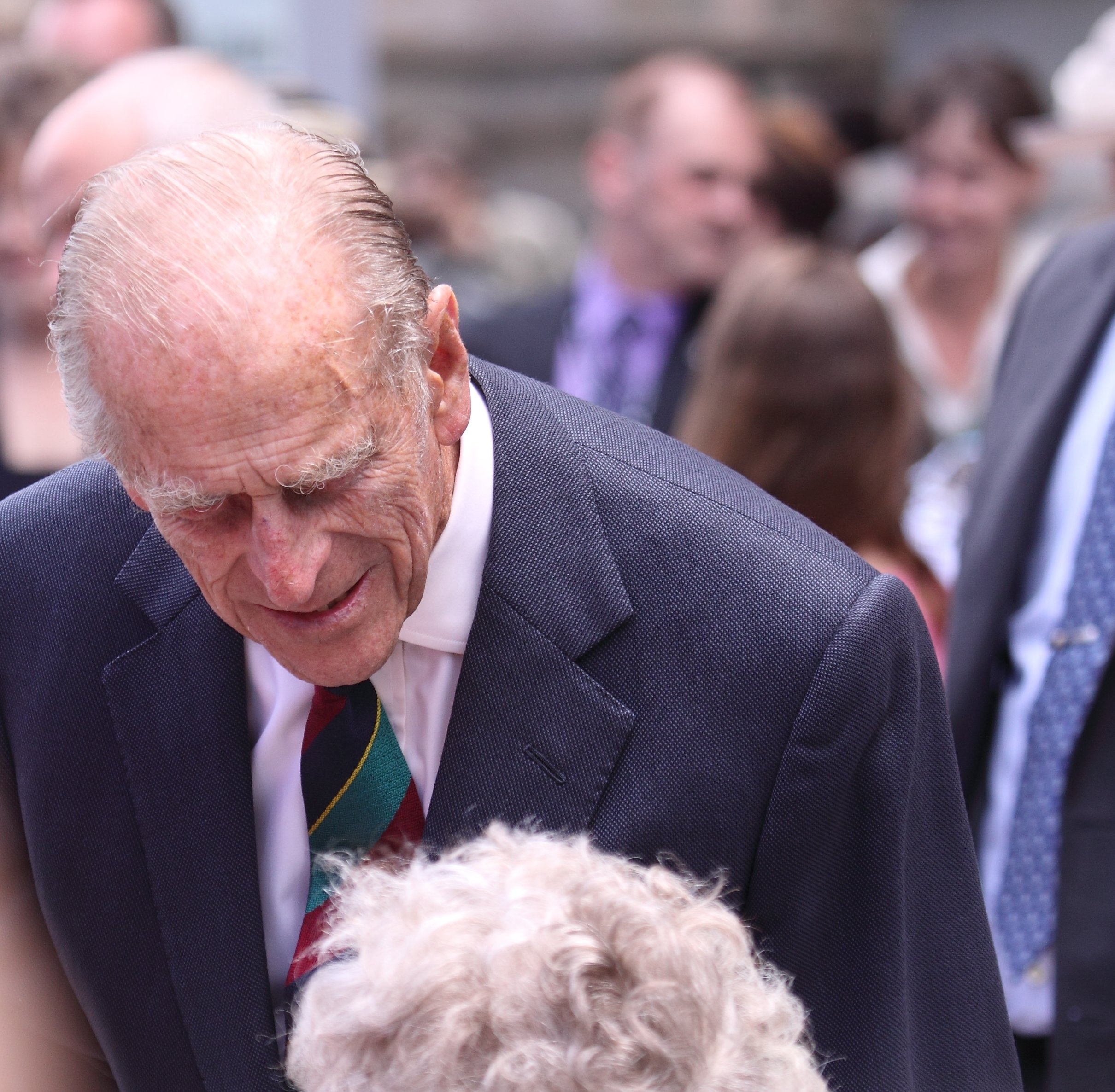 Prince Philip talks to an admirer during his visit to Ottawa with Queen Elizabeth II on June 30, 2010, in Ottawa, Canada | Photo: Shutterstock