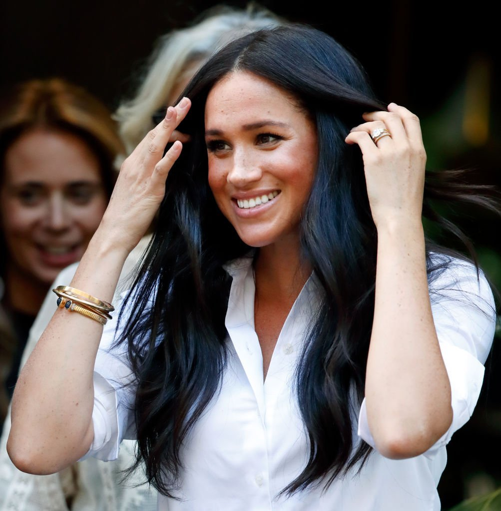 Meghan Markle at the launch of the Smart Works capsule collection.   Source: Getty Images