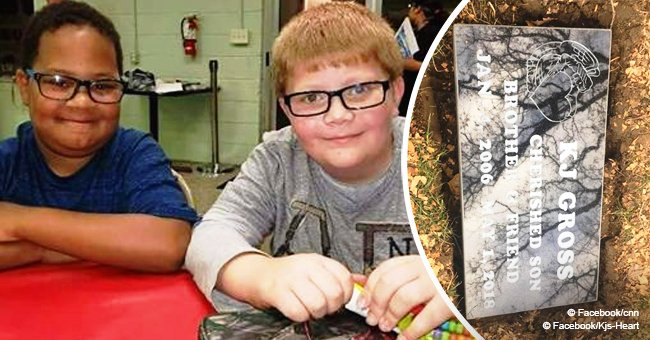Meet the young boy who lost best friend then did odd jobs to raise money to buy him a gravestone