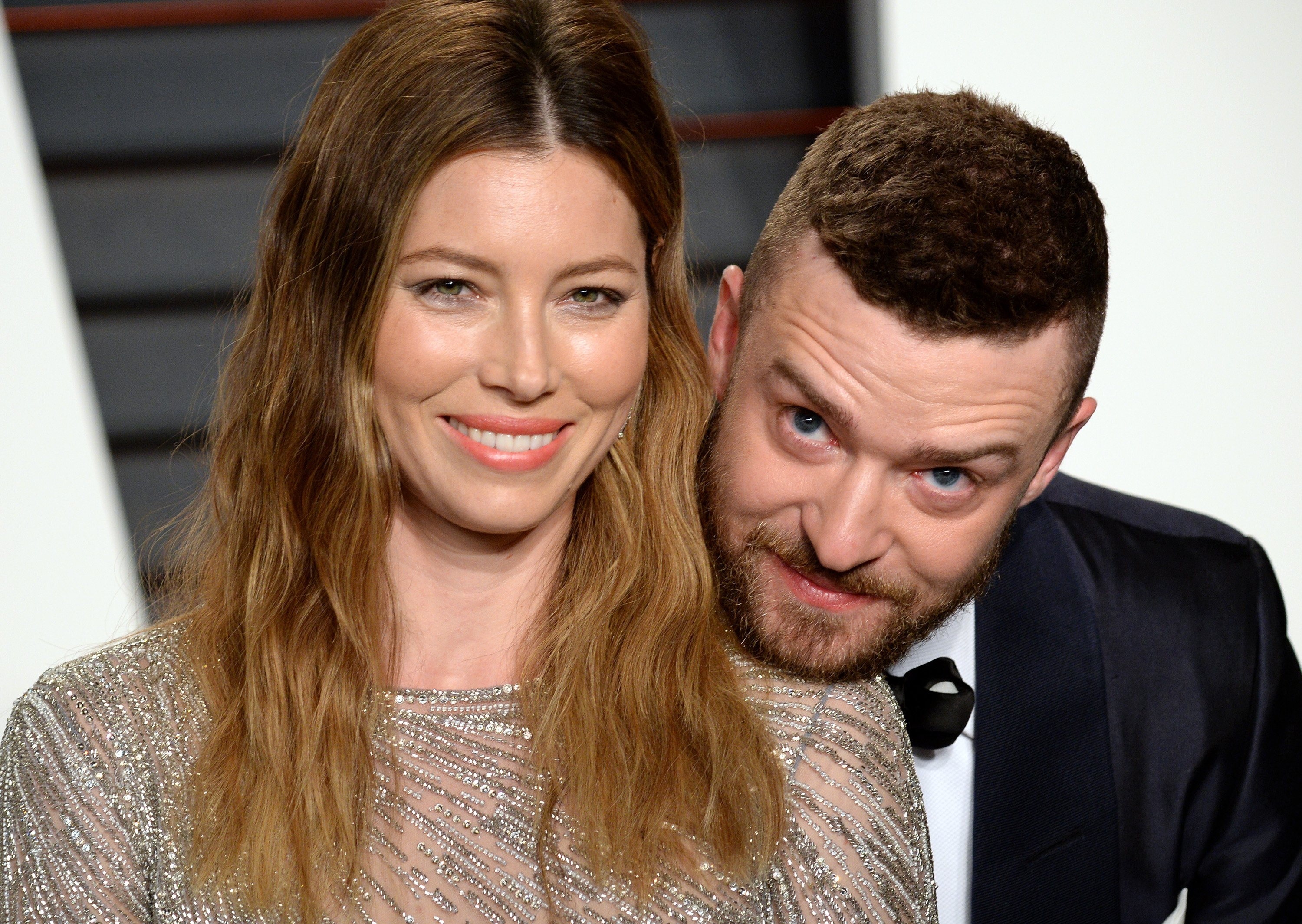 Jessica Biel and Justin Timberlake attend the 2016 Vanity Fair Oscar Party on February 28, 2016, in Beverly Hills, California. | Source: Getty Images.