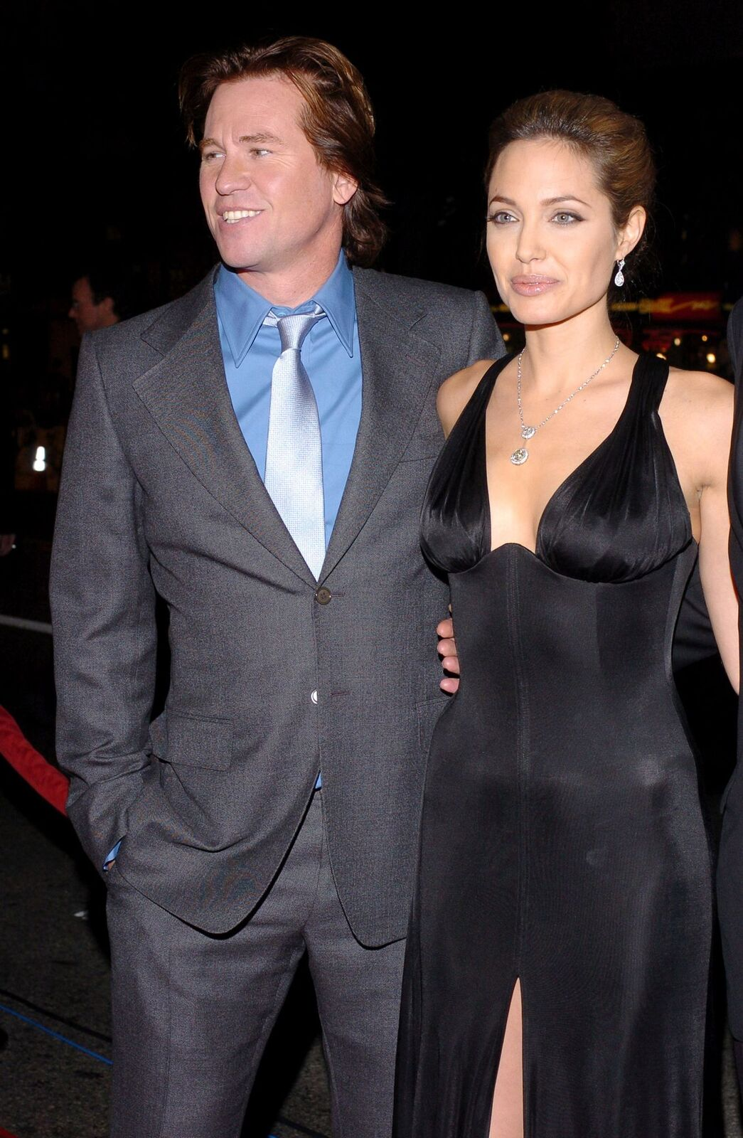 """Val Kilmer and Angelina Jolie during """"Alexander"""" Los Angeles Premiere held at Grauman's Chinese Theatre on November 16, 2004, in Hollywood, California 