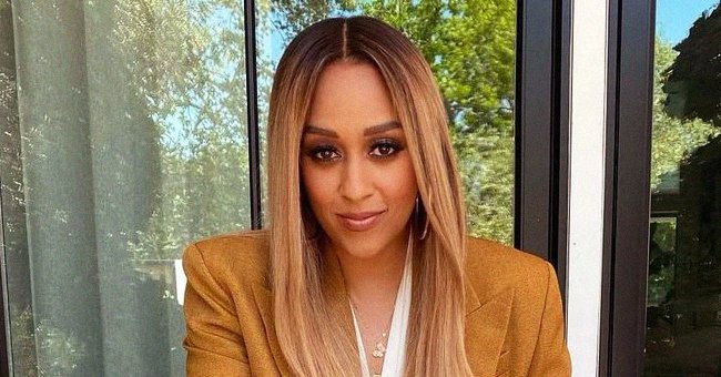 Tia Mowry Flaunts Her Curves in a One-Shoulder Swimsuit during Pool Day with Her Kids Cree and Cairo