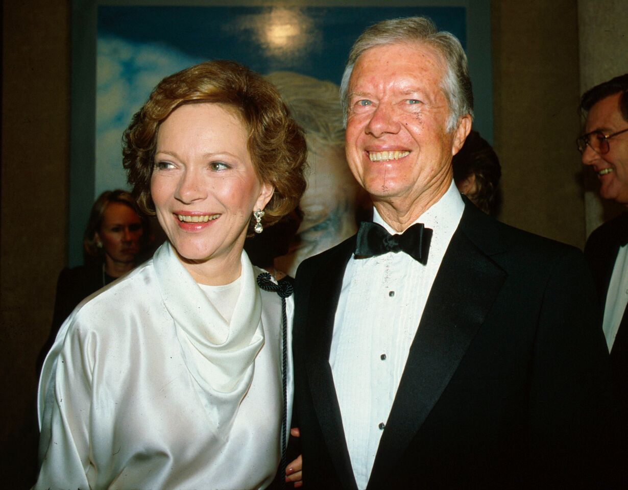 Jimmy and Rosalynn Carter at the Sotheby's Auction in 1983. | Source: Getty Images