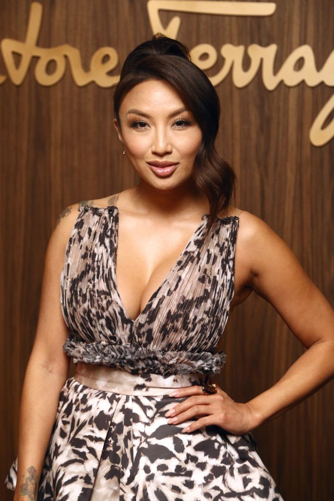 Jeannie Mai attends the ELLE x Ferragamo Hollywood Rising Party at Sunset Tower | Photo: Getty Images