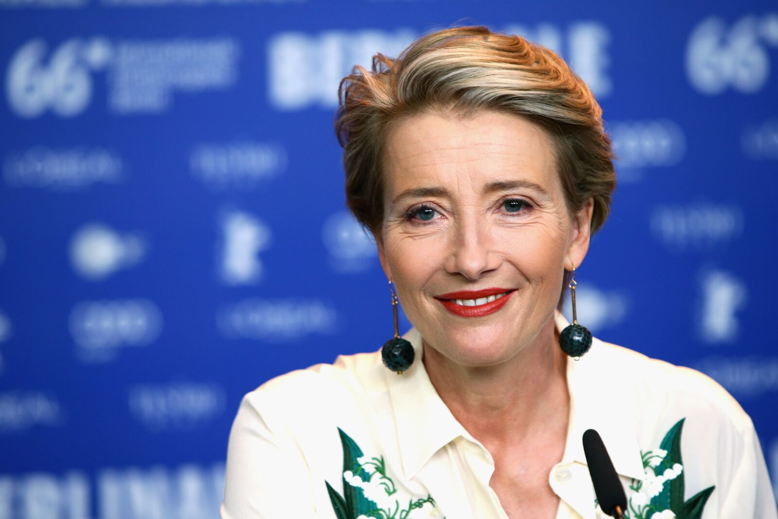 "Emma Thompson at the ""Alone in Berlin"" press conference during the 66th Berlinale International Film Festival Berlin on February 15, 2016, in Germany 