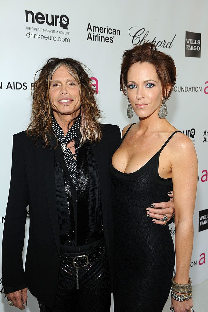 Steven Tyler and Erin Brady at the 20th Annual Elton John AIDS Foundation Academy Awards Viewing Party on February 26, 2012 | Photo: GettyImages