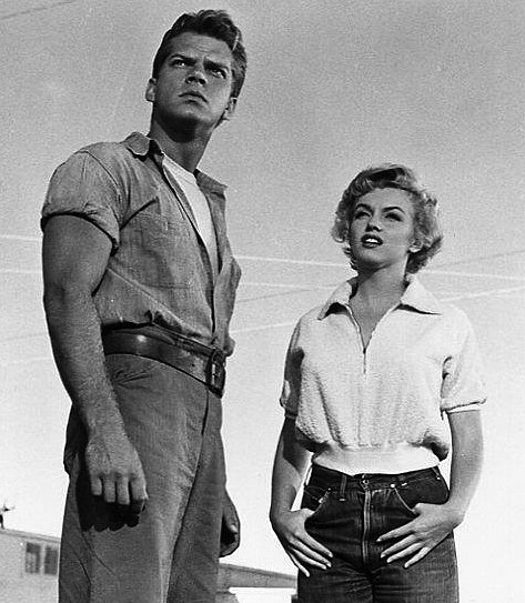 """Keith Andes and Marilyn Monroe in the 1952 film, """"Clash by Night"""" 