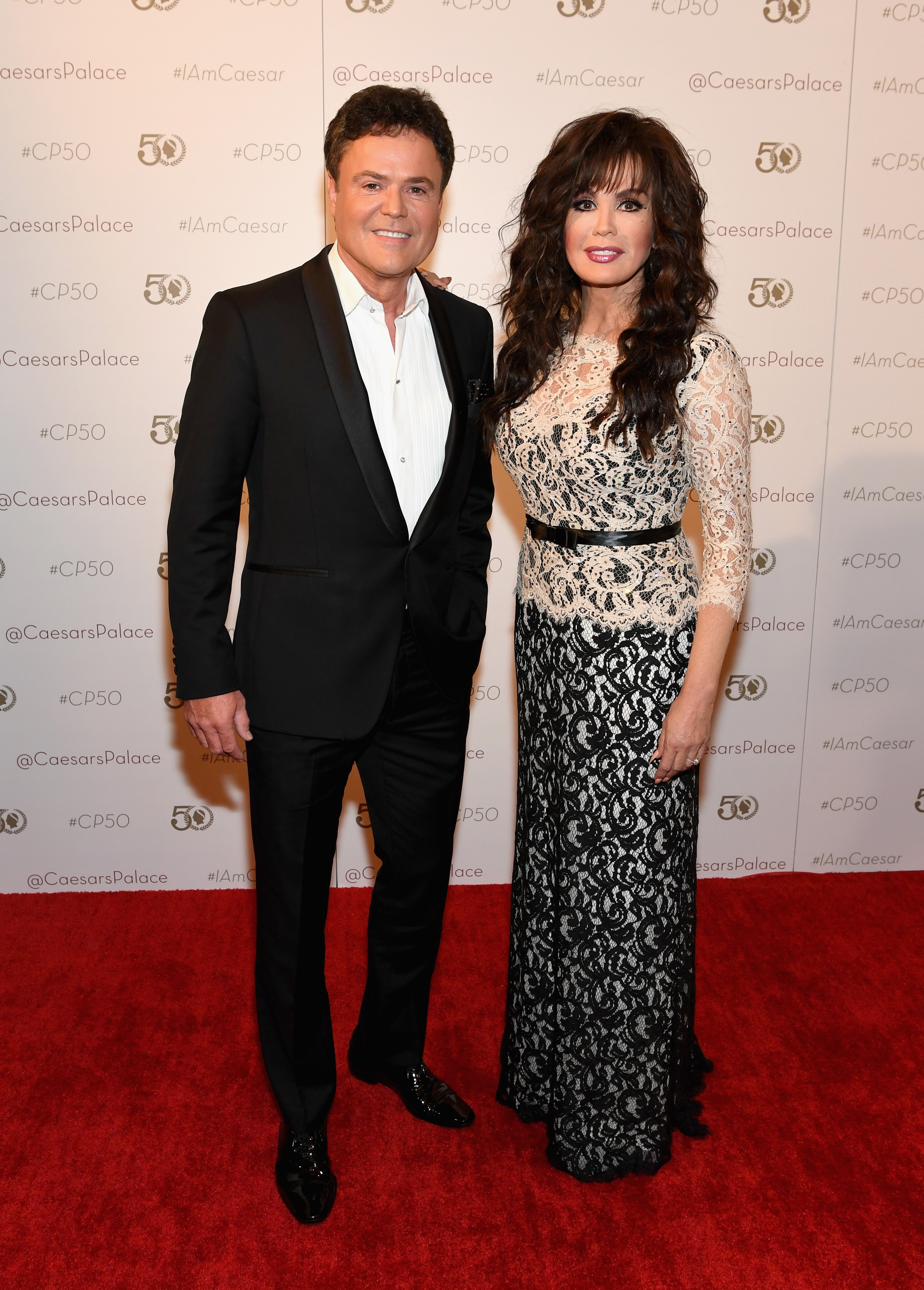 Donny Osmond and Marie Osmond at Caesars Palace on August 6, 2016, in Las Vegas, Nevada. | Source: Getty Images.