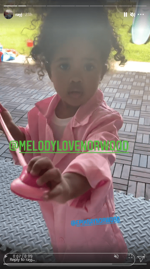 Ray J's daughter dressed in a doctor costume | Photo: Instagram.com/rayj