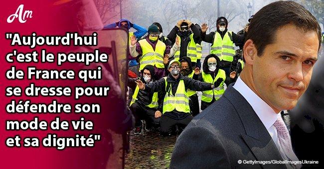 Le prince Louis de Bourbon soutient les gilets jaunes avec un message puissant
