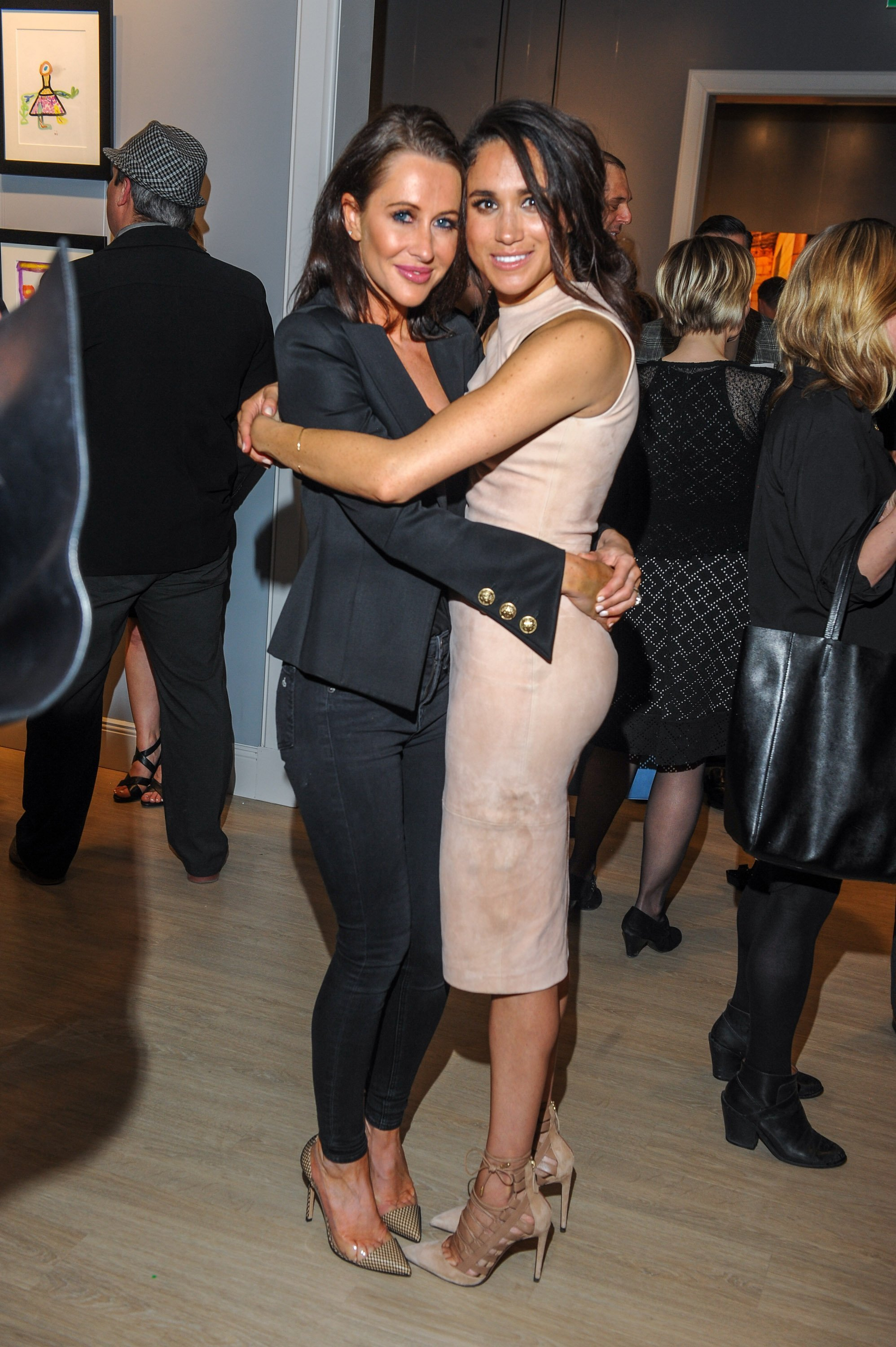 Jessica Mulroney and Meghan Markle attend the World Vision event held at Lumas Gallery on March 22, 2016, in Toronto, Canada. | Source: Getty Images.
