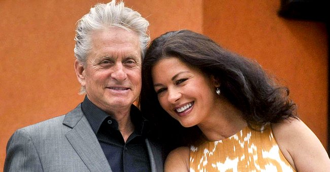 Catherine Zeta-Jones Jokes about Her Husband Michael Douglas' Long-Life Family Genes