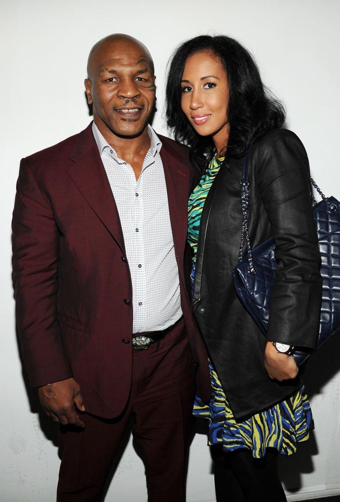 Mike Tyson and Lakiha Spicer attend Adult Swim Upfront Party 2014 at Terminal 5  | Getty Images