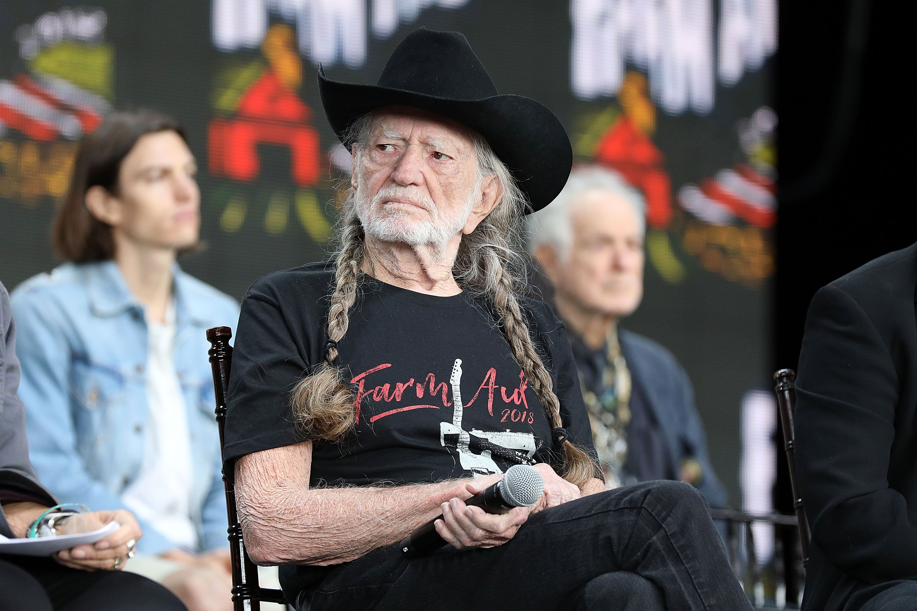 Willie Nelson at a press conference at Farm Aid 2018 at Xfinity Theatre in Hartford, Connecticut | Photo: Taylor Hill/Getty Images