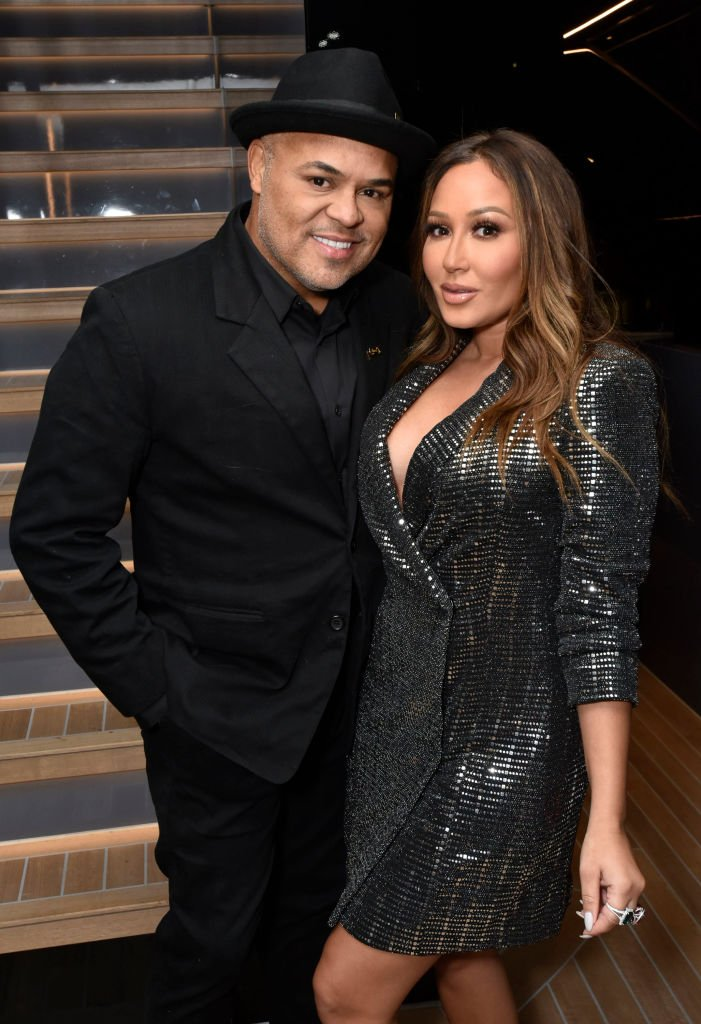 Adrienne Bailon and Israel Houghton attend the Lumiere De Vie Hommes Launch Event Aboard Superyacht Utopia IV | Photo: Getty Images