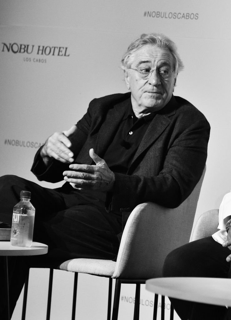 Robert De Niro speaks onstage during Press Conference at Nobu Los Cabos Official Hotel Launch & Sake Ceremony | Getty Images / Global Images Ukraine