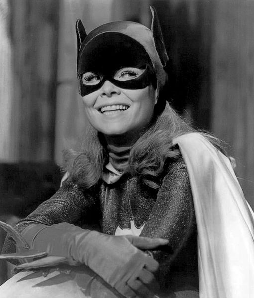 """Yvonne Craig as Batgirl from the television program """"Batman.""""   Source: Wikimedia Commons"""