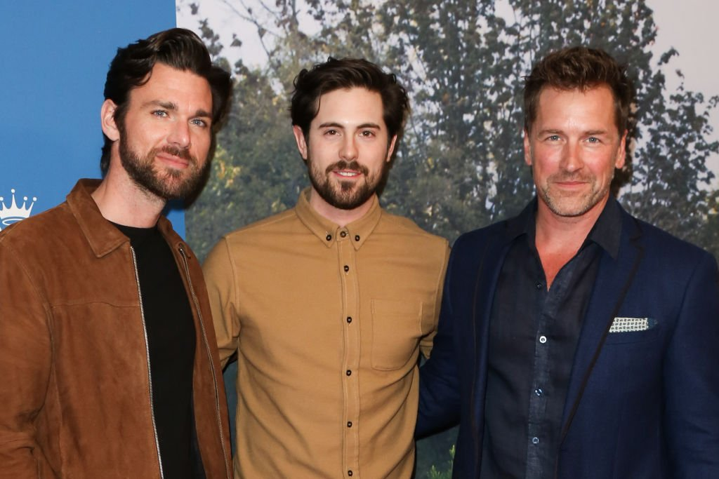 "Actors Kevin McGarry, Chris McNally and Paul Greene attend the Hallmark Channel's ""When Calls The Heart"" season 7 celebration dinner on February 11, 2020. 