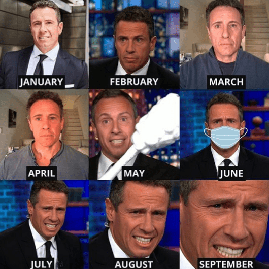 Chris Cuomo joins in on the 2020 Mood Theme Challenge. | Source: Instragram/chriscuomo.