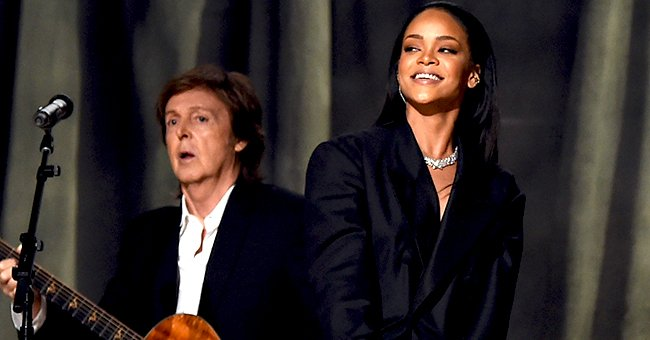 Rihanna Shares Video of Her Running into 'Beatles' Star Sir Paul McCartney on a Flight