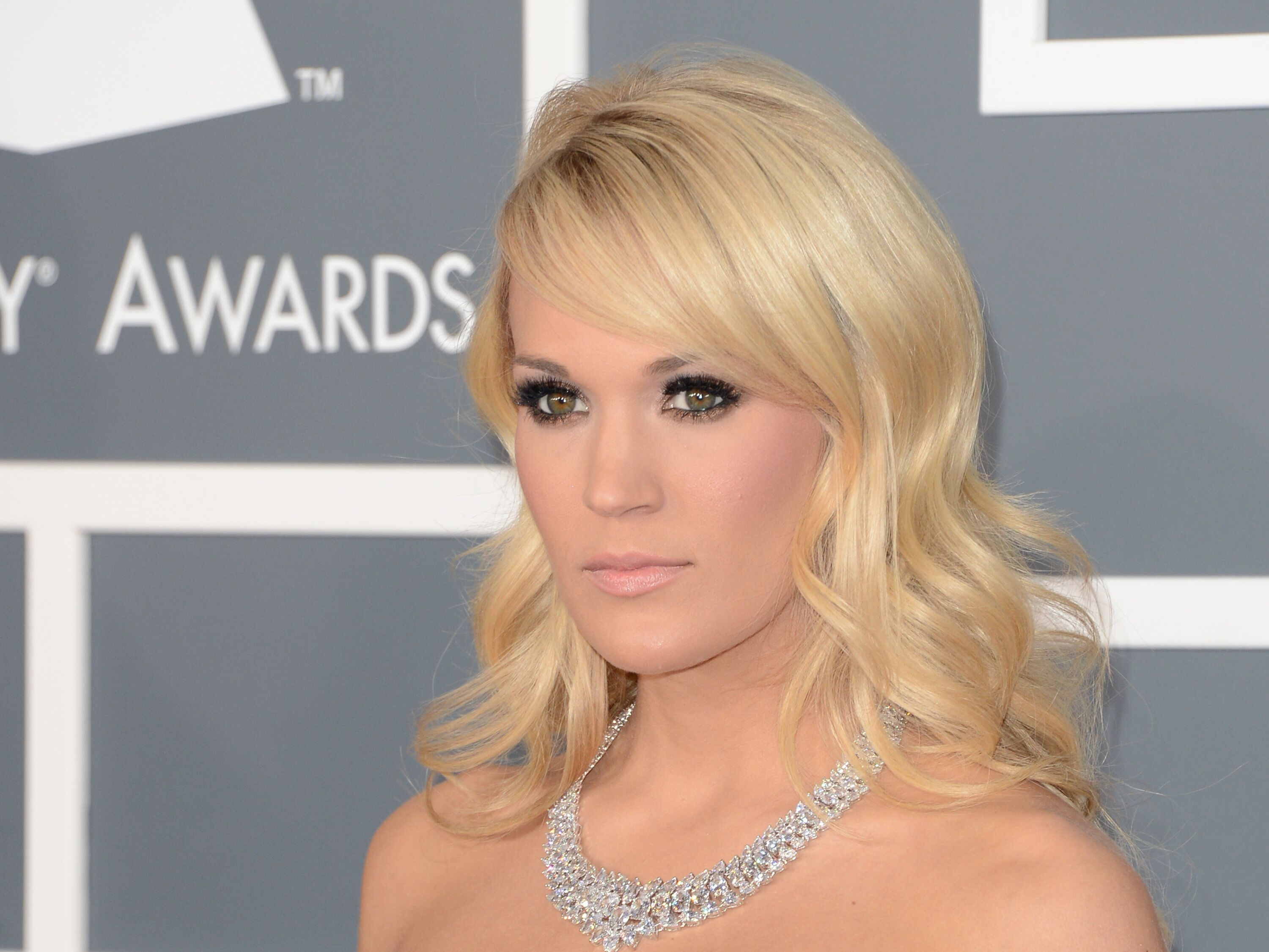 Carrie Underwood at the 55th Annual GRAMMY Awards in Los Angeles, California | Source: Getty Images
