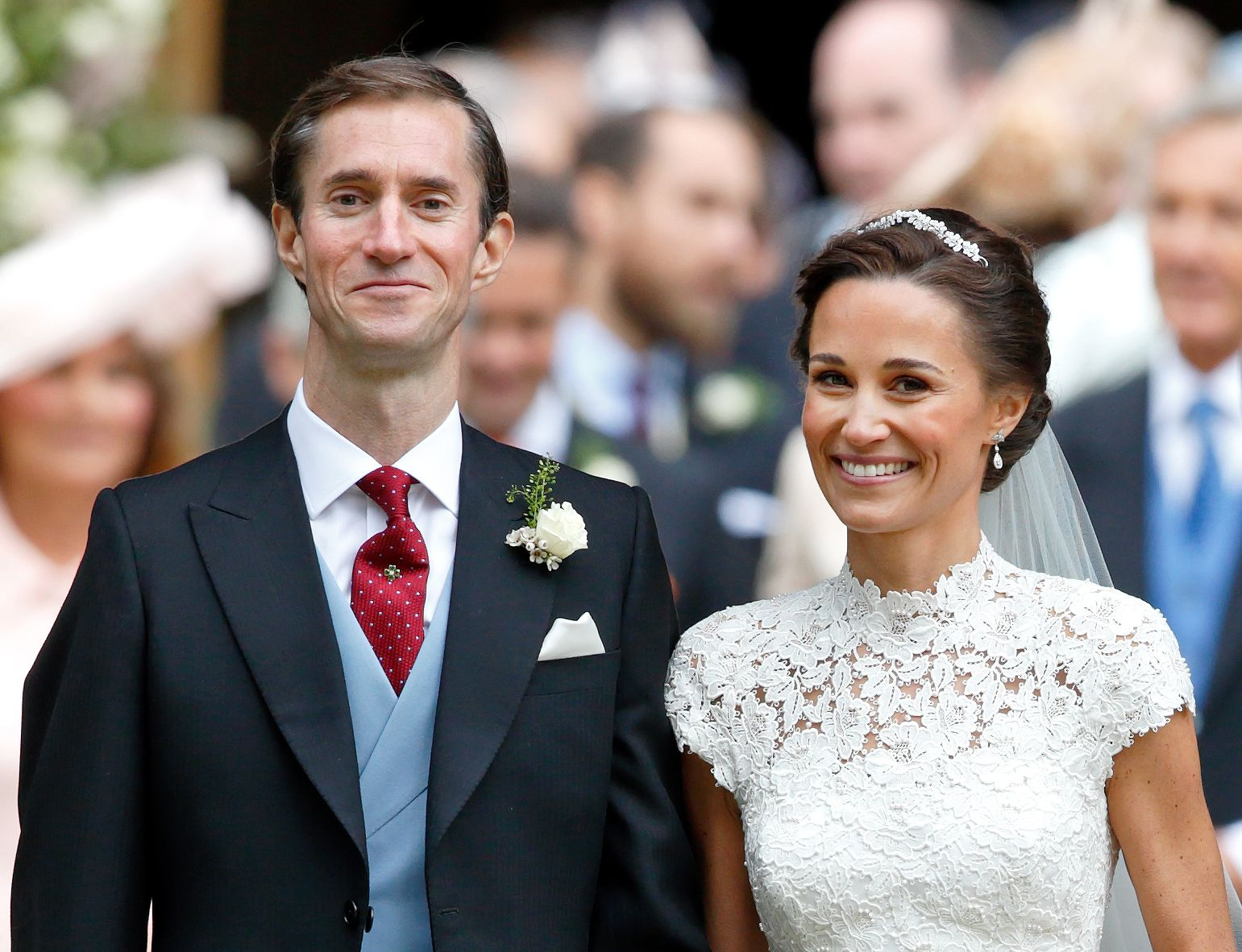 James Matthews and Pippa Middleton as they left St Mark's Church after their wedding on May 20, 2017 | Photo: Getty Images