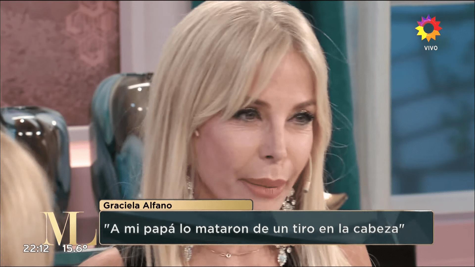 Graciela Alfano contando su historia │Imagen tomada de: YouTube / eltrece