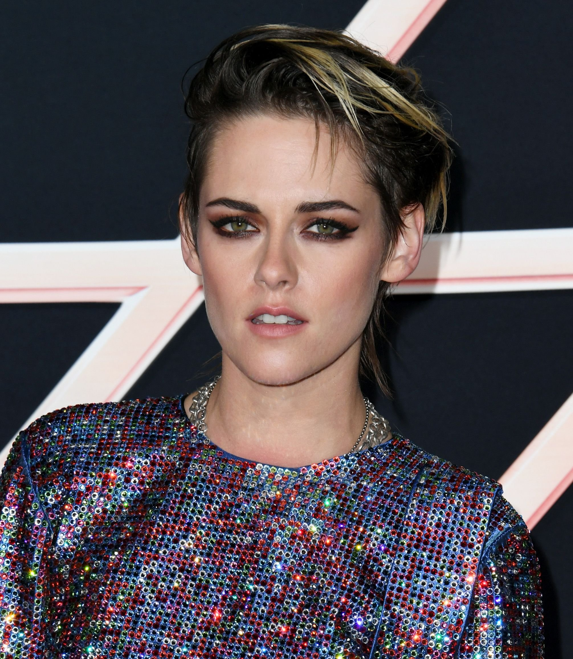 """Kristen Stewart at the premiere of Columbia Pictures' """"Charlie's Angels"""" at Westwood Regency Theater on November 11, 2019. 