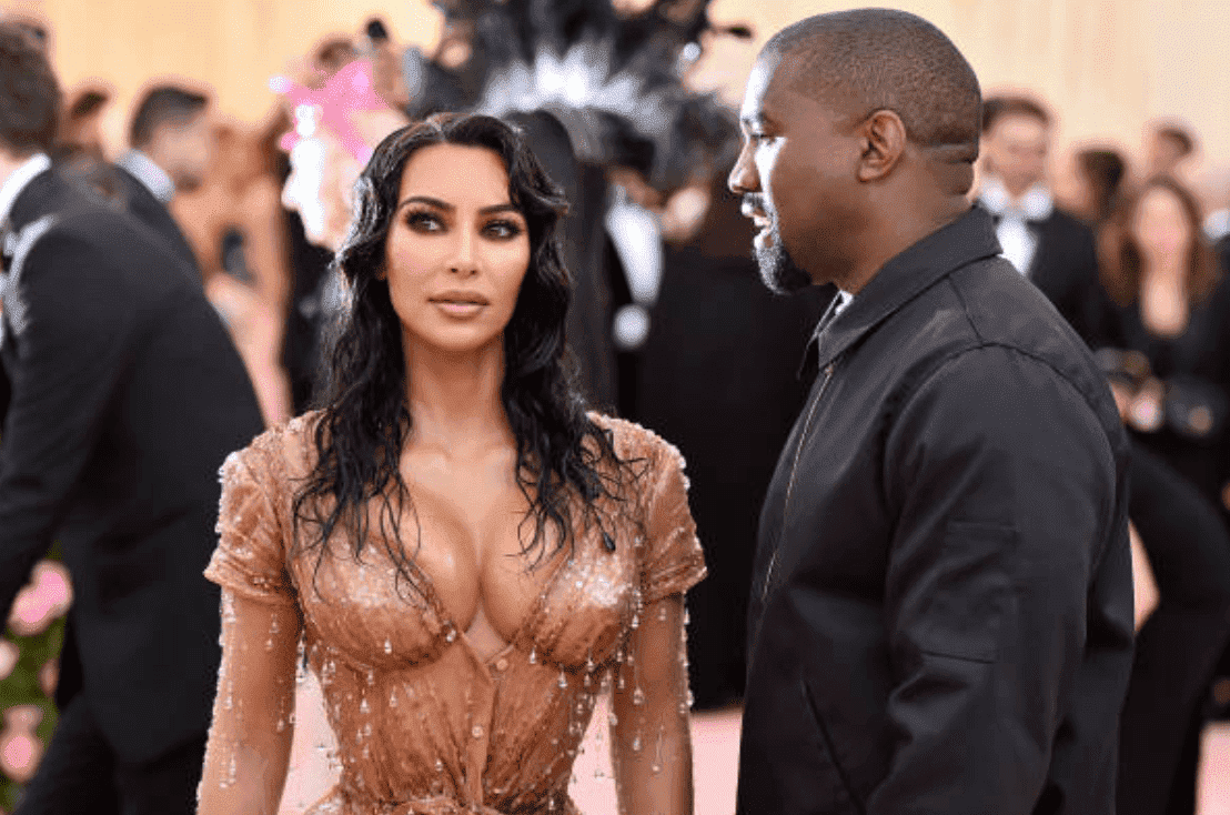 Kim Kardashian West and Kanye West pose on the pink carpet for the Met Gala, at Metropolitan Museum of Art, on May 06, 2019, New York City | Source: Getty Images (Photo by Dia Dipasupil/FilmMagic)