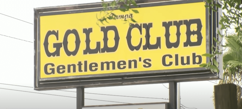 The Gold Club strip club on State Road 60 in Tampa, Florida   Photo: Youtube.com/WFLA News Channel 8