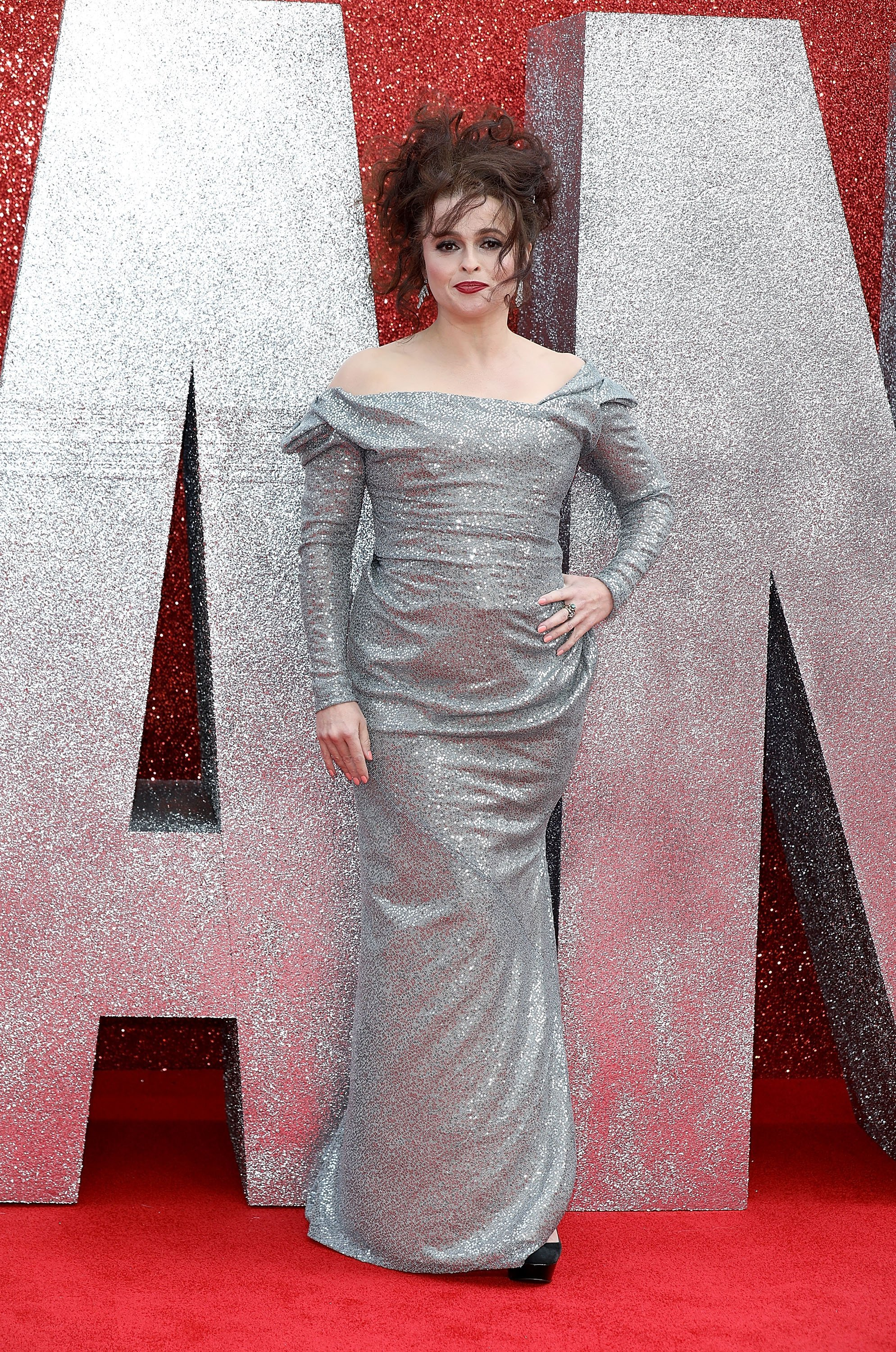 """Helena Bonham Carter attends the premiere of """"Ocean's 8"""" in London, England on June 13, 2018 