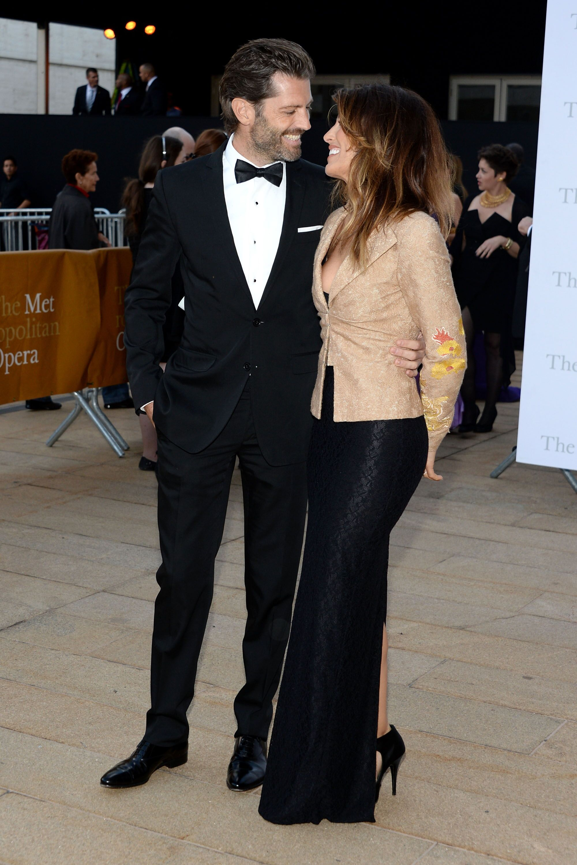 Model Louis Dowler (L) and actress Jennifer Esposito attend the Metropolitan Opera Season Opening | Getty Images