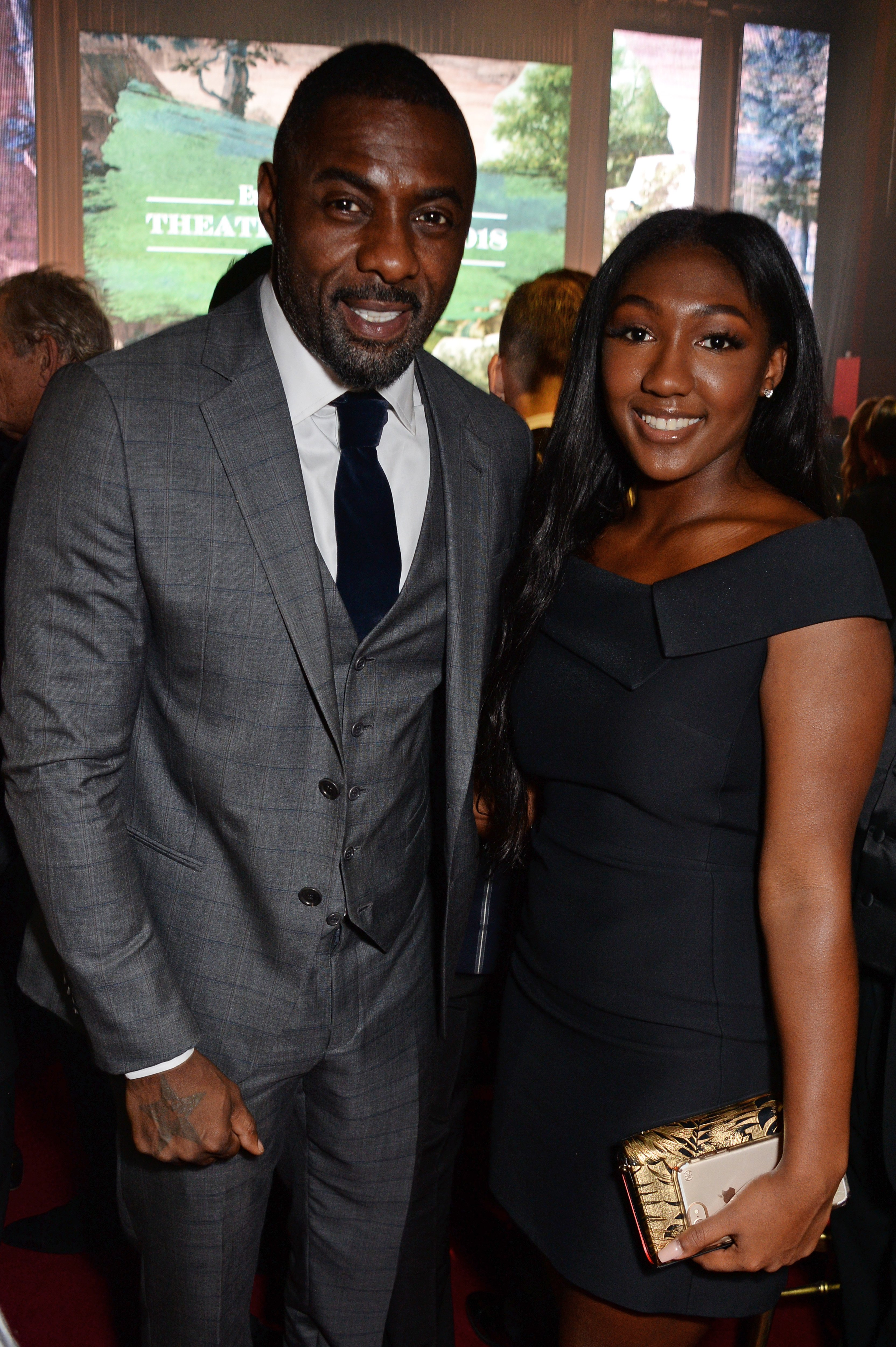 Idris Elba and Isan Elba attend The 64th Evening Standard Theatre Awards on November 18, 2018, in London, England. | Source: Getty Images.