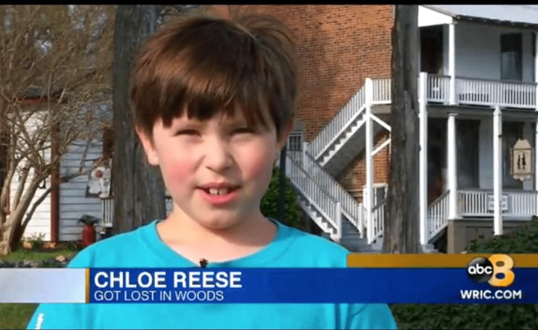 Chloé Reese déclare à la chaîne de télévision locale WRIC comment ils se sont perdus dans les bois. | ABC News 8